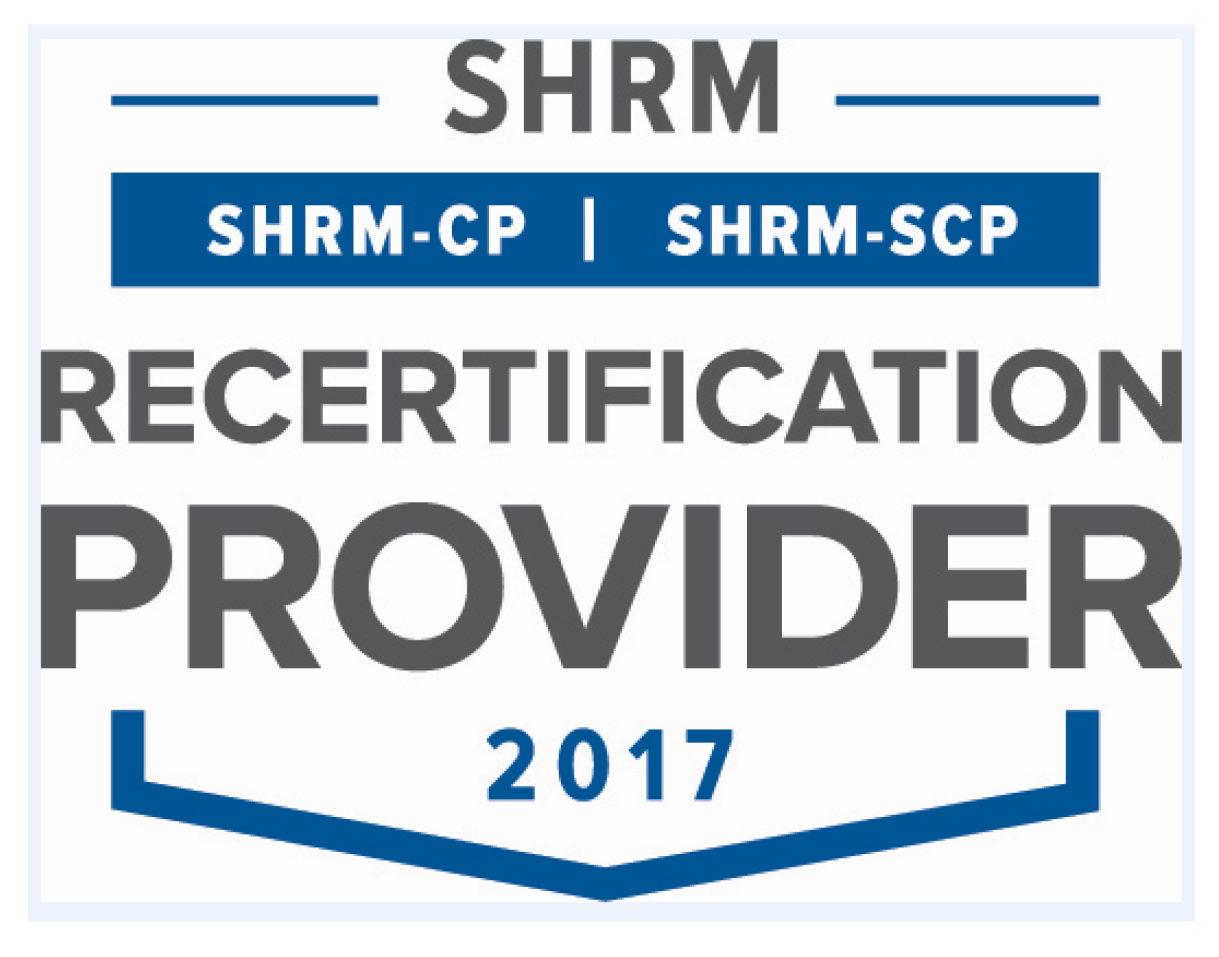 SHRM Recertification Provider 2017 logo