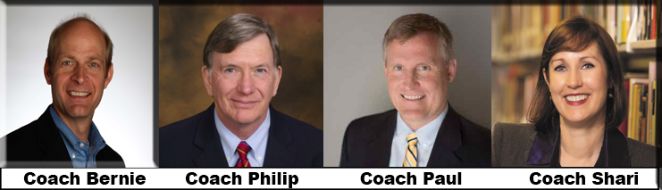 Meet Our Certified Professional Business Coaches: Bernie, Philip, Paul, Shari